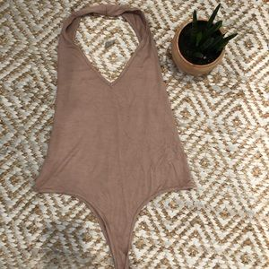Missguided bodysuit tan